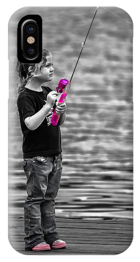 Angler IPhone X / XS Case featuring the photograph Pretty In Pink by Brian Stevens
