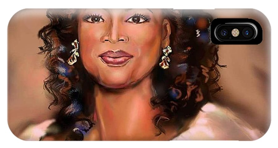 IPhone X Case featuring the painting Queen Of Talk Show by Mark Givens
