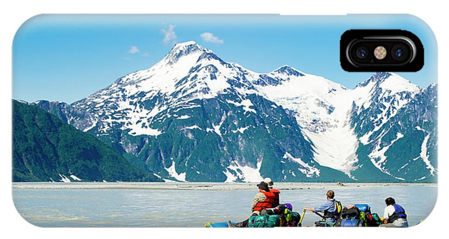 Kluane National Park IPhone X Case featuring the photograph Rafters On The Alsek River by Josh Miller Photography