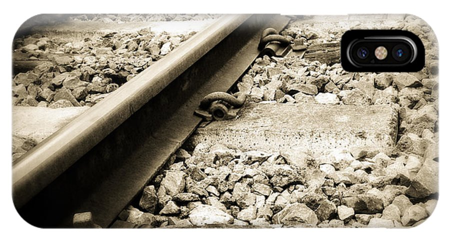 Industry IPhone X Case featuring the photograph Railway Tracks by Les Cunliffe