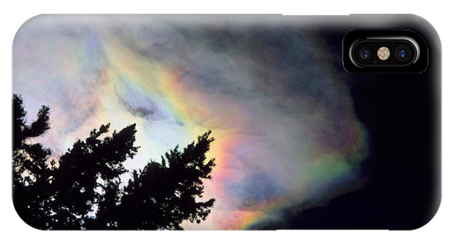 Rainbowcloud Winter Tree Nature Colorado Rocky Mountains Zen Simple IPhone X Case featuring the photograph Rainbow Cloud by George Tuffy