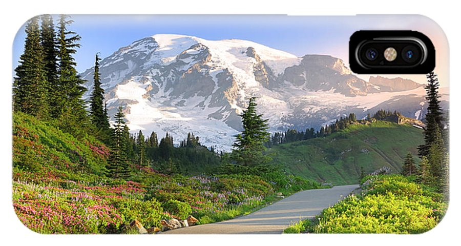 August IPhone X Case featuring the photograph Rainier National Park by King Wu