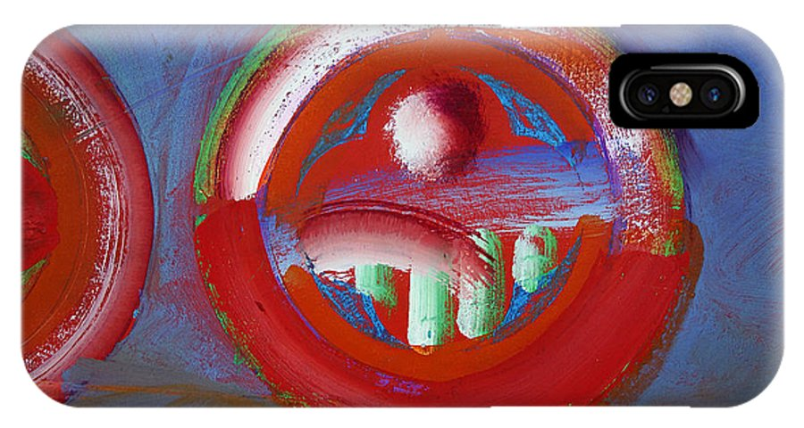 Texas Art IPhone X Case featuring the painting Red Planet by Charles Stuart