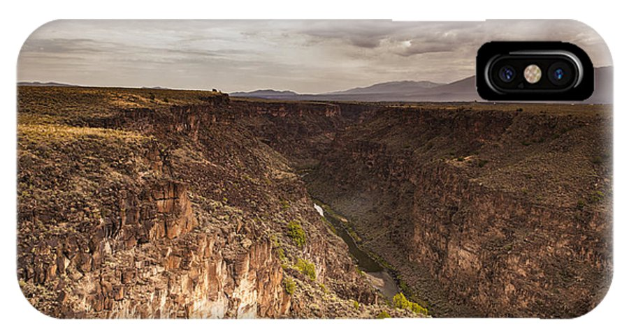 Rio Grande Gorge IPhone X Case featuring the photograph Rio Grande by Sandra Selle Rodriguez
