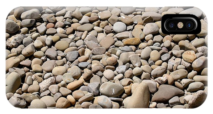 Stone IPhone X Case featuring the photograph River Rocks Pebbles by Henrik Lehnerer