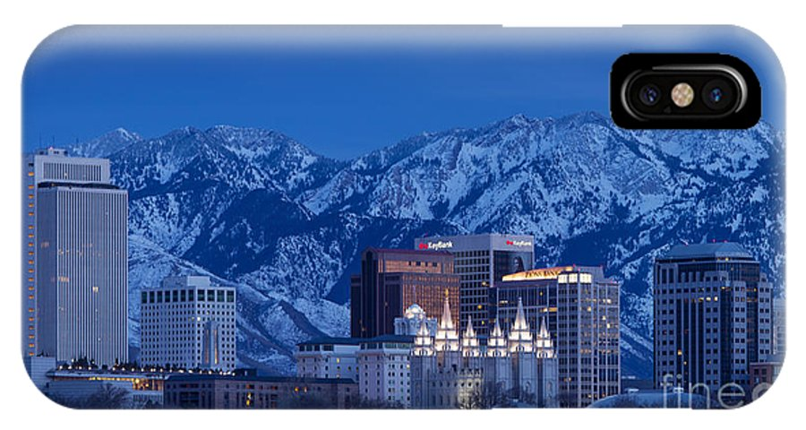 America IPhone X Case featuring the photograph Salt Lake City by Brian Jannsen