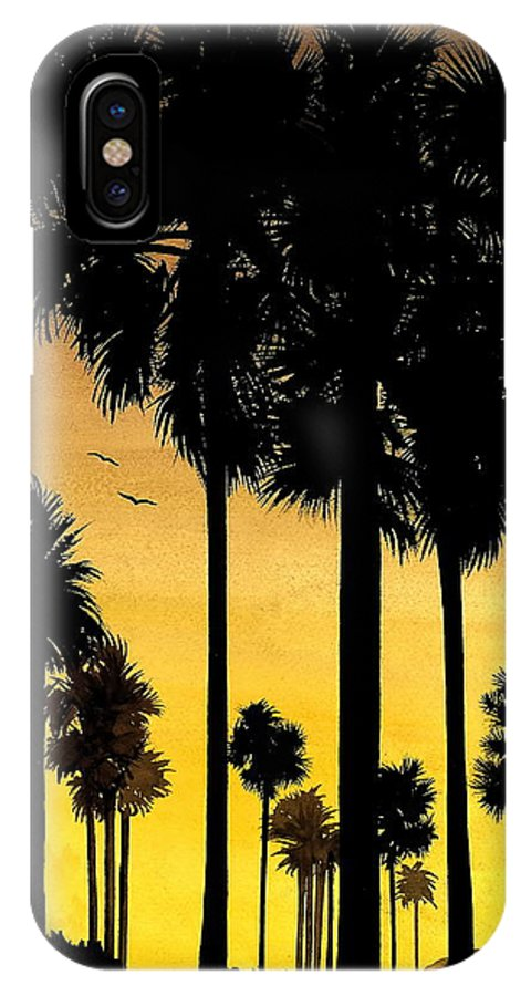 San Diego Sunset IPhone Case featuring the painting San Diego Sunset by Larry Lehman