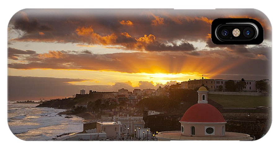 Sunrise IPhone X Case featuring the photograph San Juan Sunrise by Brian Jannsen