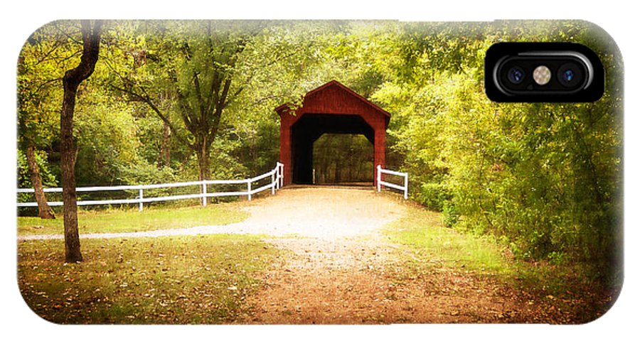 Julie Clements IPhone X Case featuring the photograph Sandy Creek Covered Bridge by Julie Clements