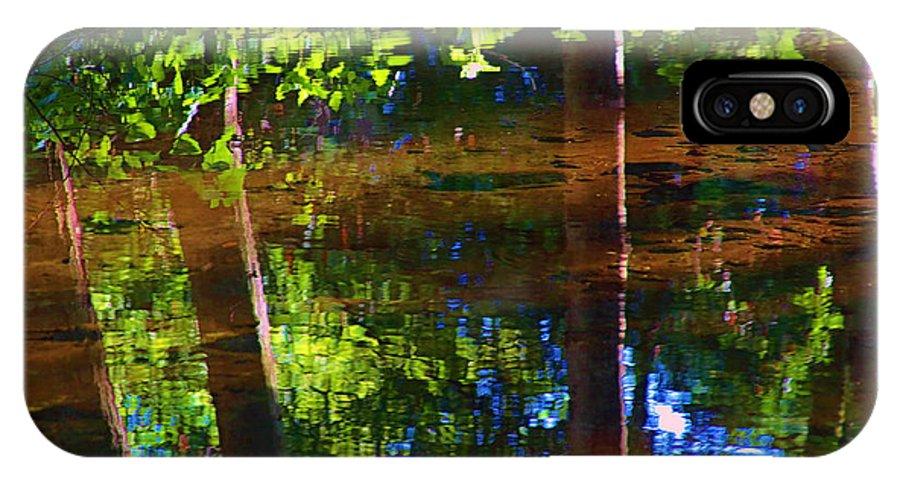 Santa Anita IPhone X / XS Case featuring the photograph Santa Anita Creek by Viktor Savchenko