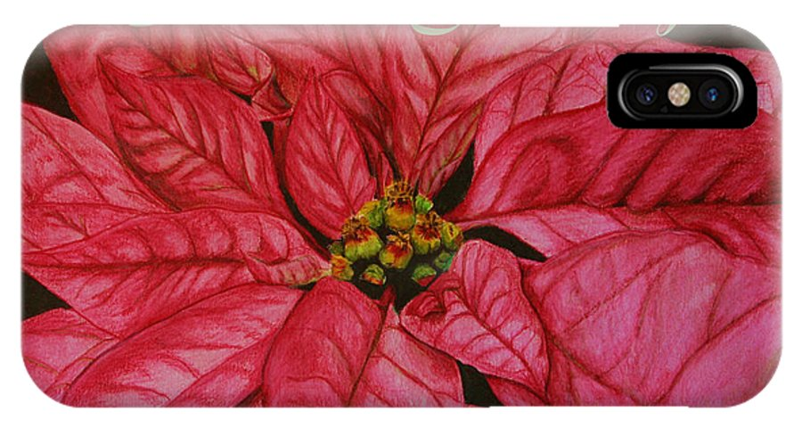 Season IPhone X Case featuring the painting Season's Greetings by Marna Edwards Flavell