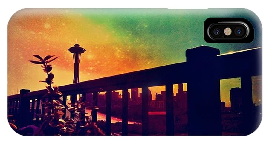 Seattle Space Needle IPhone X Case featuring the photograph Seattle Space Needle by Eddie G