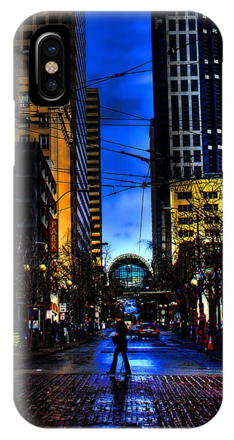 Seattle IPhone X Case featuring the photograph Seattle Streets by David Patterson