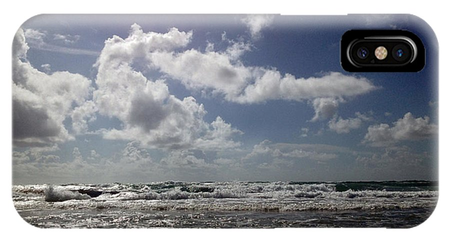 Fl Beach IPhone X Case featuring the digital art Serenity by Louis Ferreira