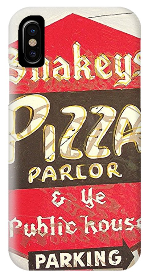Sacramento IPhone X Case featuring the painting Shakey's Pizza by Paul Guyer