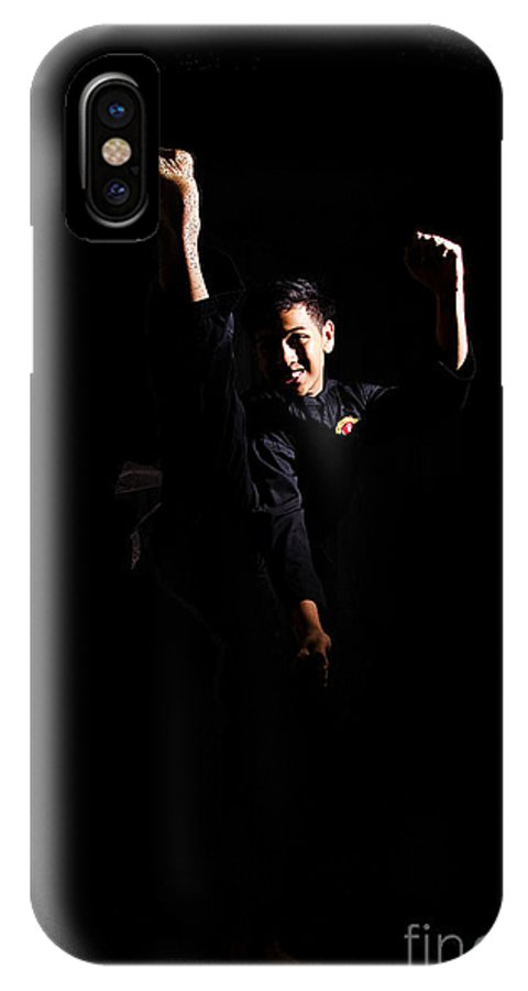 Silat IPhone X Case featuring the photograph Silat by Mystique Asian