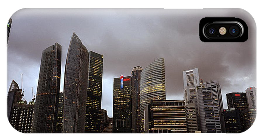 Marina IPhone X Case featuring the photograph Singapore Cityscape by Shaun Higson