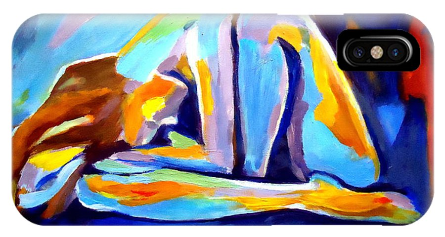 Nude Figures IPhone X Case featuring the painting Sleepless by Helena Wierzbicki