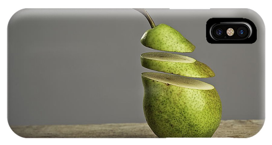 Pear IPhone X Case featuring the photograph Sliced by Nailia Schwarz