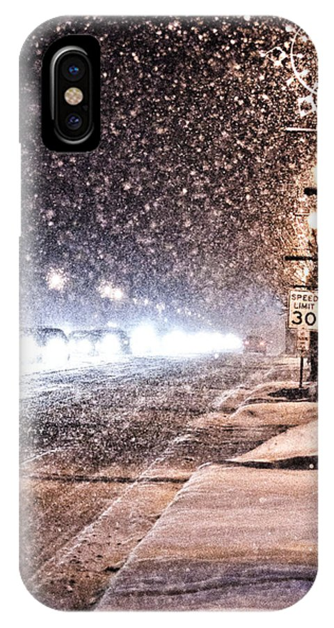 Snow IPhone X Case featuring the photograph Snow Rush by Christina Fixemer