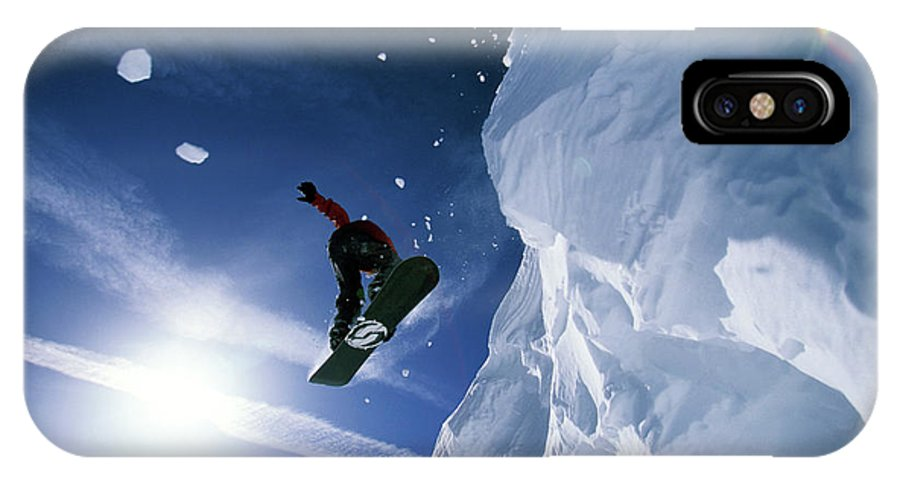 20-24 Years IPhone X Case featuring the photograph Snowboarding In Lake Tahoe by Corey Rich