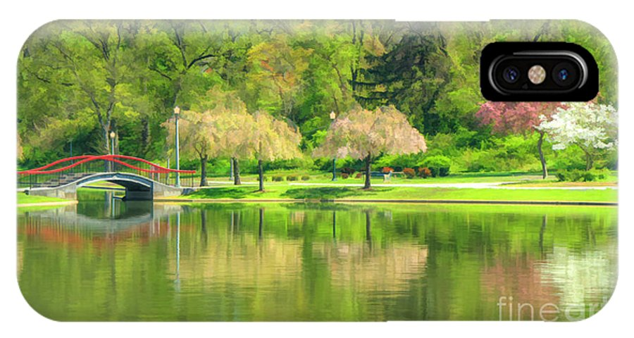 Lakes IPhone X Case featuring the photograph Springtime Reflections by Geoff Crego