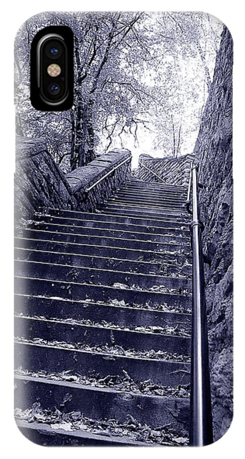 Stairs IPhone X Case featuring the photograph Stairway To Heaven by Mark Baker