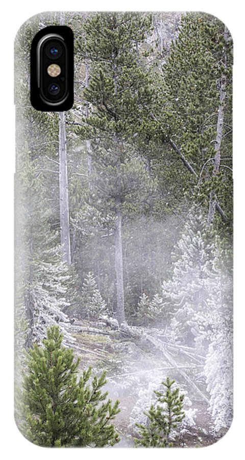 Steam IPhone X Case featuring the photograph Steam Rising by Carolyn Fox
