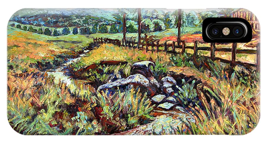 Landscape Paintings IPhone X / XS Case featuring the painting Stroubles Creek by Kendall Kessler