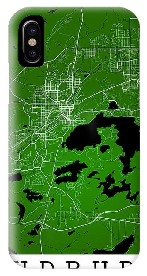 Road Map IPhone X Case featuring the digital art Sudbury Street Map - Sudbury Canada Road Map Art On Colored Back by Jurq Studio