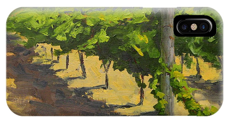 Vineyard IPhone X Case featuring the painting Summer Riesling by Laurel Bushman