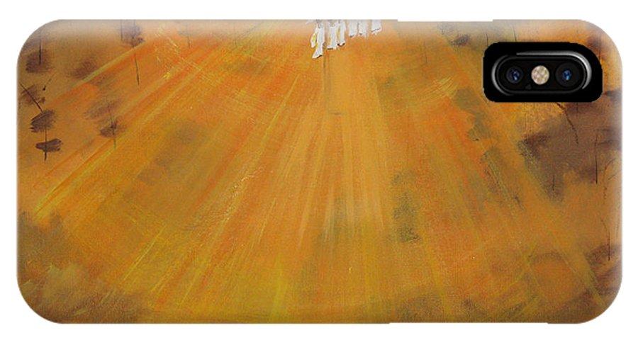 Sunshine IPhone X Case featuring the painting Sun Choir by Calvin Ott