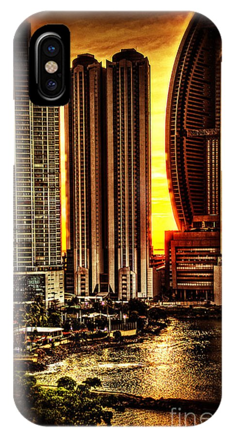 Panama City IPhone X Case featuring the photograph Sunrise At Punta Pacifica by Bob Hislop