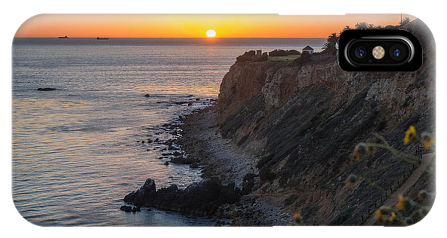 Sunset At Point Vincent Lighthouse IPhone X Case featuring the photograph Sunset At Point Vincent Lighthouse by Michelle Choi