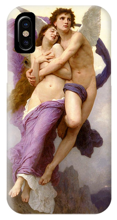 The Abduction Of Psyche IPhone X Case featuring the painting The Abduction Of Psyche by William-Adolphe Bouguereau