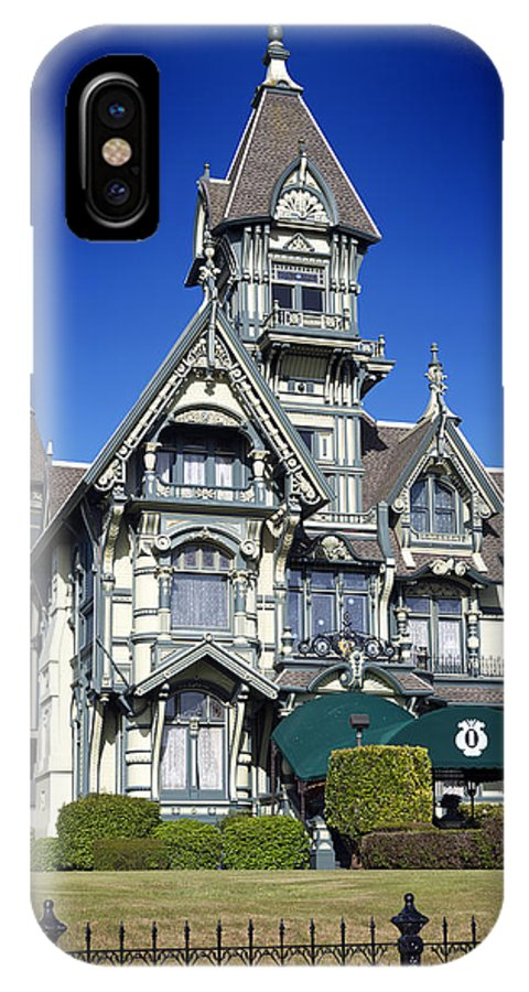 Carson Mansion IPhone X Case featuring the photograph The Carson Mansion by Mountain Dreams