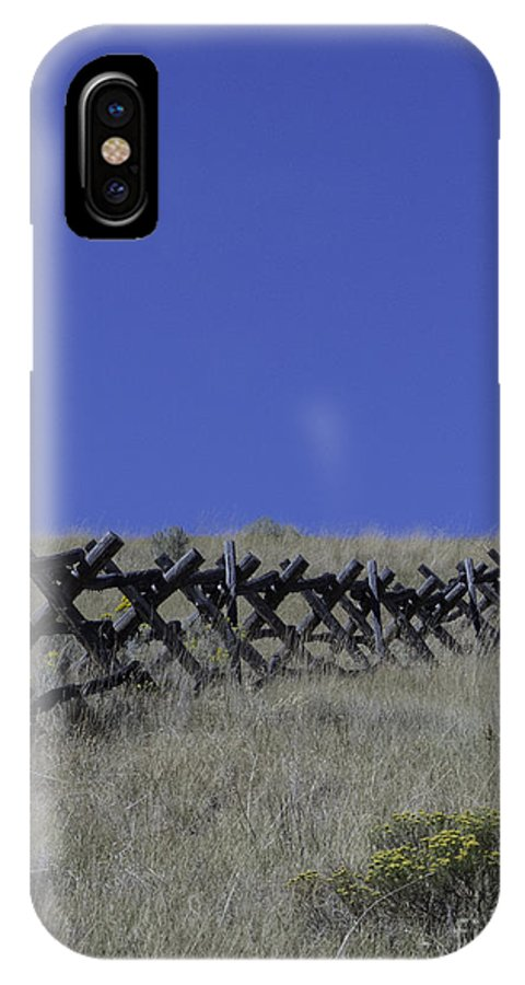 Fence IPhone X Case featuring the photograph The Fence by Carolyn Fox