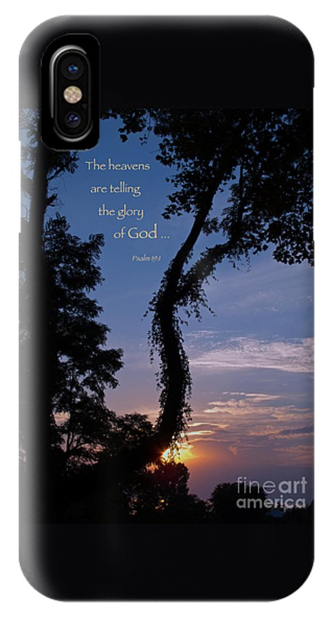 Sunset IPhone X Case featuring the photograph The Heavens Are Telling by Ann Horn