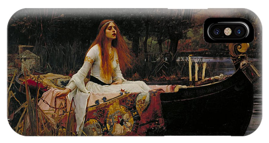 Lady Of Shalott IPhone X Case featuring the painting The Lady Of Shalott by John William Waterhouse