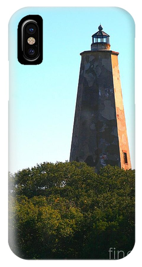 Lighthouse IPhone X Case featuring the photograph The Lighthouse by Nadine Rippelmeyer