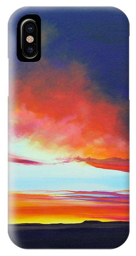 Landscape IPhone X Case featuring the painting The Long Way Home by Hunter Jay