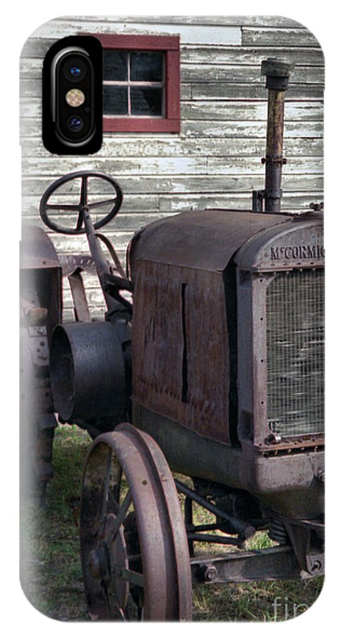 Farm Tractor IPhone X Case featuring the photograph The Old Mule by Richard Rizzo