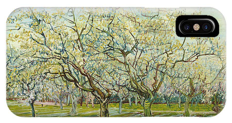 Vincent Van Gogh IPhone X Case featuring the painting The White Orchard by Vincent van Gogh