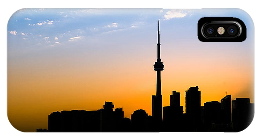 Toronto IPhone X Case featuring the photograph Toronto Skyline by Sebastian Musial