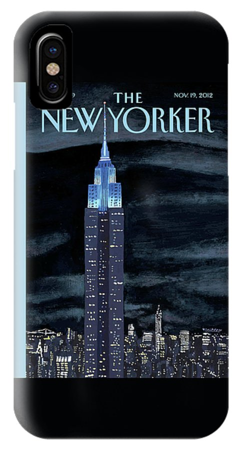 New York City IPhone X Case featuring the painting New Yorker November 19th, 2012 by Mark Ulriksen