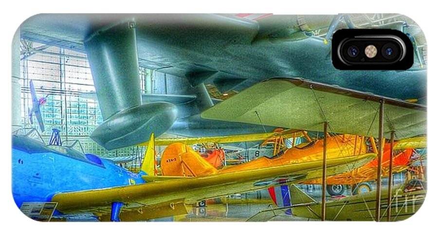 Vintage Airplanes IPhone X Case featuring the photograph Vintage Airplanes by Susan Garren