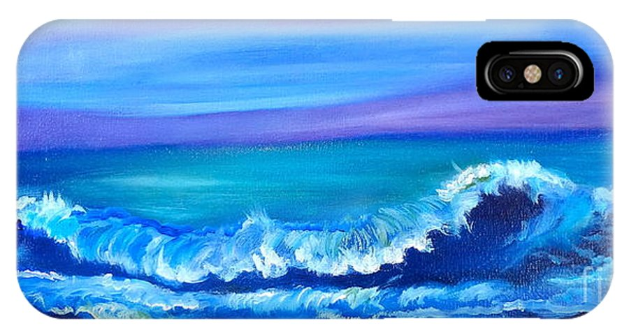 Wave Canvas Print IPhone X Case featuring the painting Wave by Jenny Lee