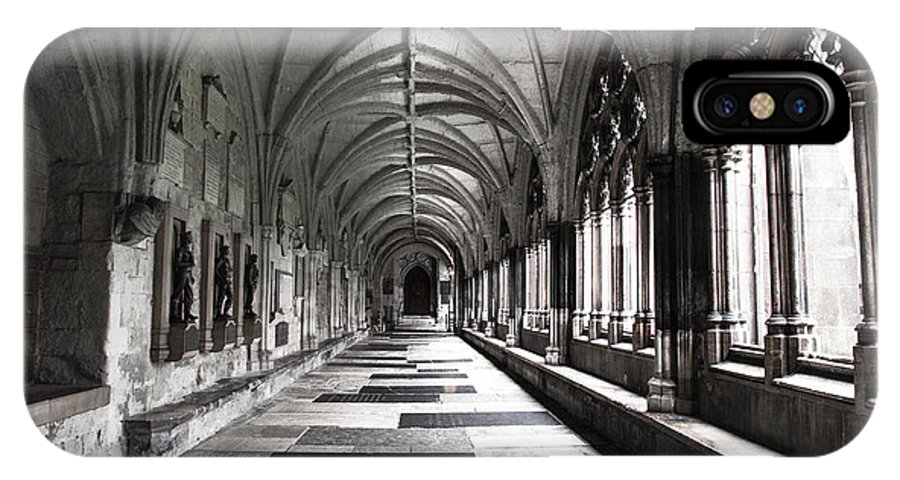 Westminister Abbey IPhone X Case featuring the photograph Westminister Abbey Cloister by Karen Varnas