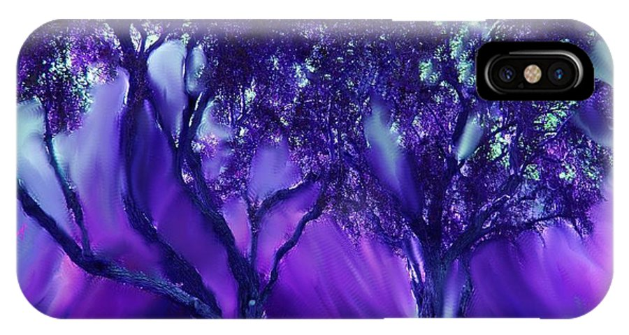 Trees IPhone X Case featuring the photograph Wild Is The Wind by Sherri's - Of Palm Springs
