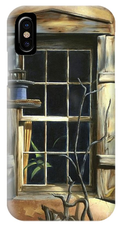 Old Window Canvas Print IPhone X Case featuring the painting Window by Madeleine Holzberg